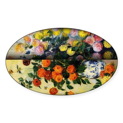 Monet Painting, Flowers In Vase , Decal