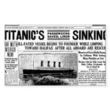 Oakland Tribune-TITANIC15-apr- Decal