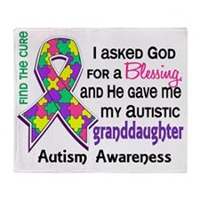 D Blessing 4 Autism Granddaughter Throw Blanket