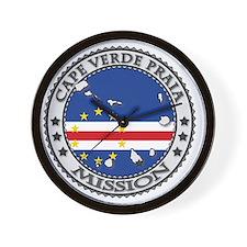 Cape Verde Praia LDS Mission Flag Cutou Wall Clock