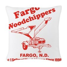 Fargowoodchippers Woven Throw Pillow