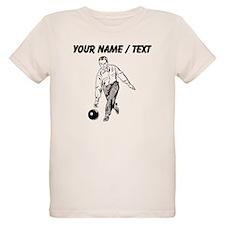 Custom Retro Bowling Man T-Shirt