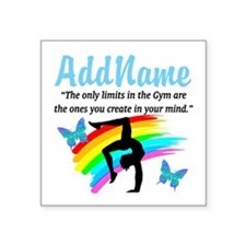 "DAZZLING GYMNAST Square Sticker 3"" x 3"""