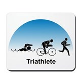 Men's Triathlete Mousepad