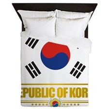 South Korea (Flag 10) Queen Duvet