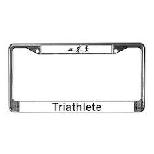 Ladies' Triathlete License Plate Frame