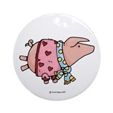 Piggy stack Ornament (Round)
