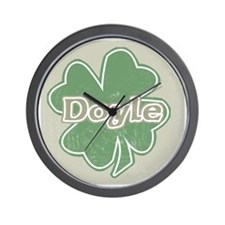 """Shamrock - Doyle"" Wall Clock"
