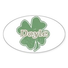 """Shamrock - Doyle"" Oval Decal"