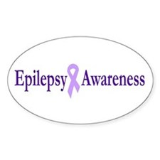 Epilepsy Awareness Oval Decal