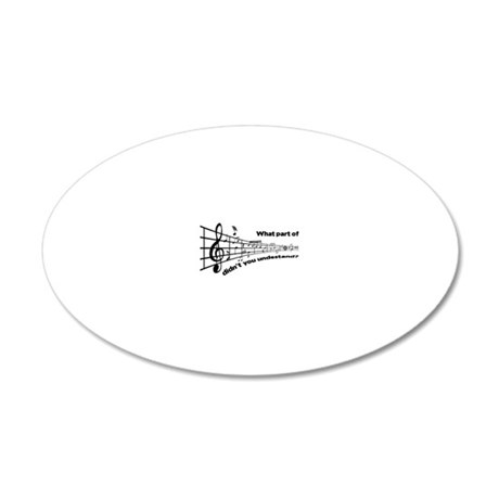 Partiture 20x12 Oval Wall Decal