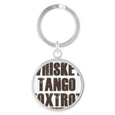 whiskey Round Keychain