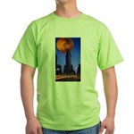 Toroidal lime shirt with additional dumb joke