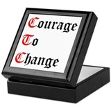 Courage To Change Keepsake Box