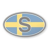 Sweden Euro Oval Bumper Stickers