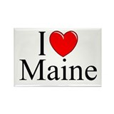 """I Love Maine"" Rectangle Magnet"