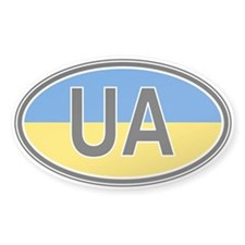 Ukraine Euro Oval Decal