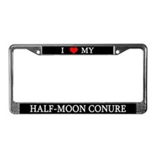 Love Half Moon Conure License Plate Frame