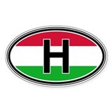 Hungary Euro Oval Bumper Stickers