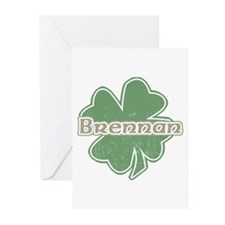 """Shamrock - Brennan"" Greeting Cards (Pk of 10)"