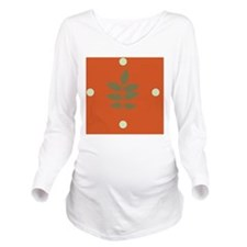 sprigonorangeClock Long Sleeve Maternity T-Shirt