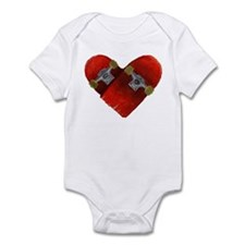 Love longboard red Infant Bodysuit
