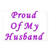 Proud Of My Husband Postcards (Package of 8)
