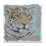 Ceramic Tile Art or Coaster - Jaguar