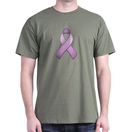 Lavender Awareness Ribbon Dark T-Shirt