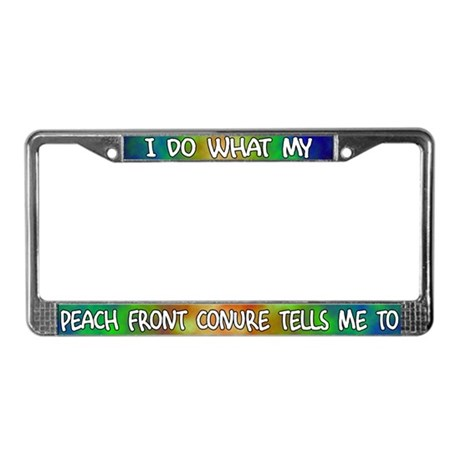 Do what Peach Front Conure License Plate Frame