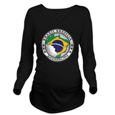 Brazil Brasilia LDS  Long Sleeve Maternity T-Shirt