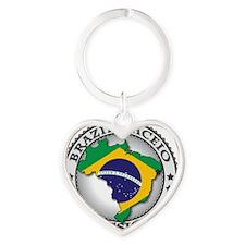 Brazil Maceio LDS Mission Flag Cuto Heart Keychain
