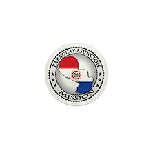 Paraguay Asuncion LDS Mission Flag Cut Mini Button