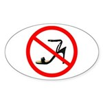 No Heels! Oval Sticker