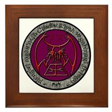 seal of rlyeh color Framed Tile