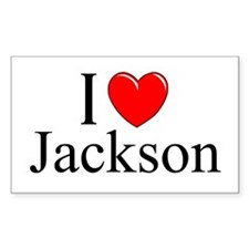"""I Love Jackson"" Rectangle Decal"