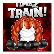 "TIME2TRAIN_mp Square Car Magnet 3"" x 3"""
