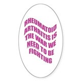 Rheumatoid Arthritis Oval Decal