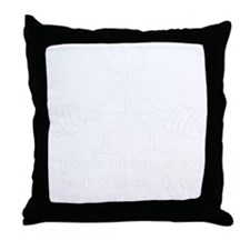 blk_stickfigures_bodybuilding_002 Throw Pillow