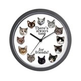 Cat Friends Wall Clock
