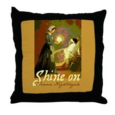 Florence Nightingale Student Nurse Throw Pillow