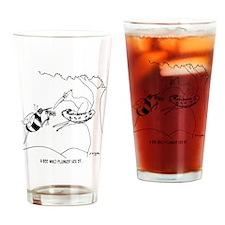 6564_bee_cartoon Drinking Glass