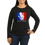 Buy Muay Thai Women's Long Sleeve Dark T-Shirt