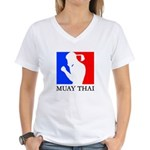 Buy Muay Thai Women's V-Neck T-Shirt