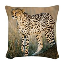 The Hunt Begins Woven Throw Pillow