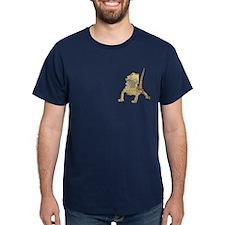 Bearded Dragon T-Shirt on pocket (blue)