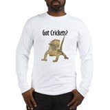 Bearded Dragon Got Crickets Long Sleeve T-Shirt