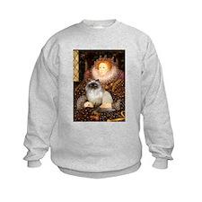 Queen & Himalayan cat Sweatshirt
