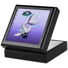 MensWalletWhite Koi-Blue Lily Keepsake Box