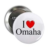 """I Love Omaha"" Button"